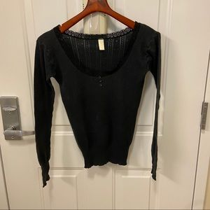 Victoria's Secret Long  Sleeve Tee with Lace